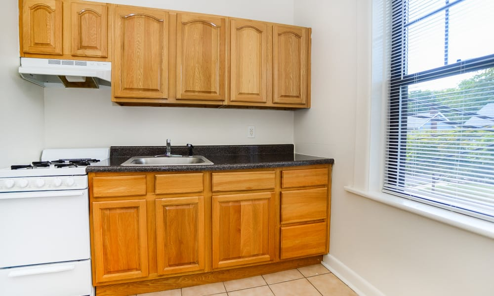 Spacious kitchen at Hillside Gardens Apartment Homes