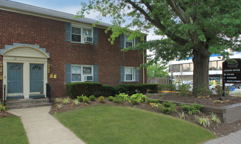Elmwood Village Apartments & Townhomes offers a beautiful entryway in Elmwood Park, New Jersey