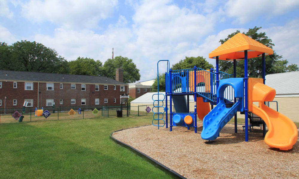 Elmwood Village Apartments & Townhomes offers a playground in Elmwood Park, New Jersey
