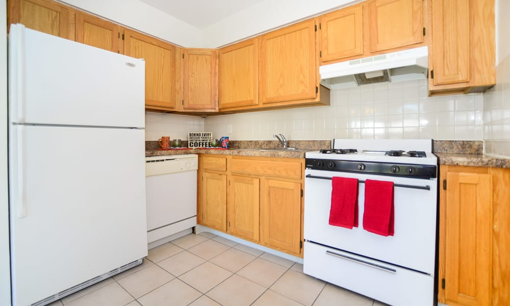 Enjoy apartments with a spacious kitchen at Rolling Gardens Apartment Homes