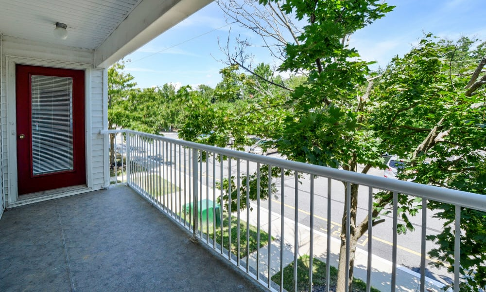 Seagrass Cove Apartment Homes offers a private balcony in Pleasantville, New Jersey