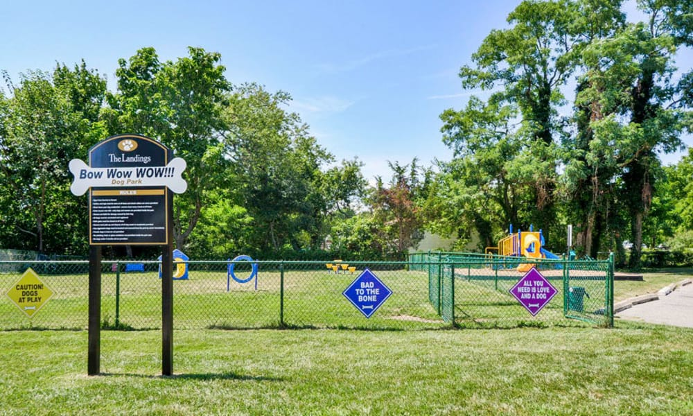 Unique dog park at apartments in Absecon, New Jersey