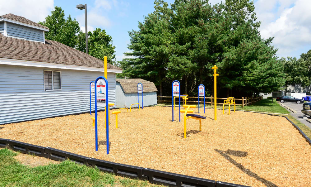 Outside fitness equipment at The Landings Apartment Homes in Absecon, New Jersey