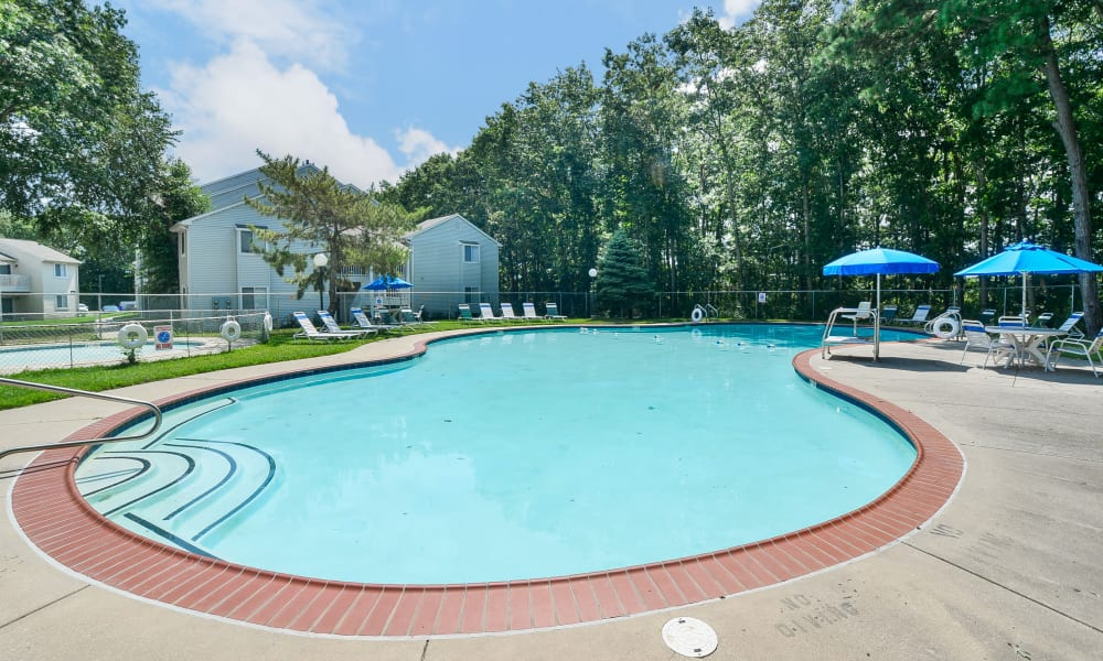 Spacious swimming pool at The Landings Apartment Homes in Absecon, New Jersey