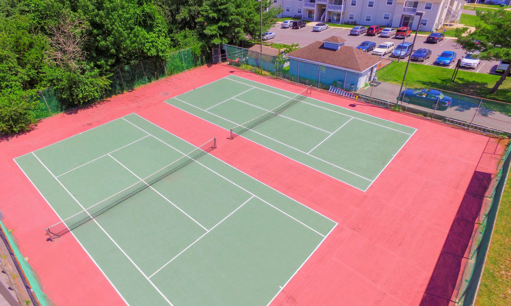 Tennis courts at apartments in Absecon, New Jersey