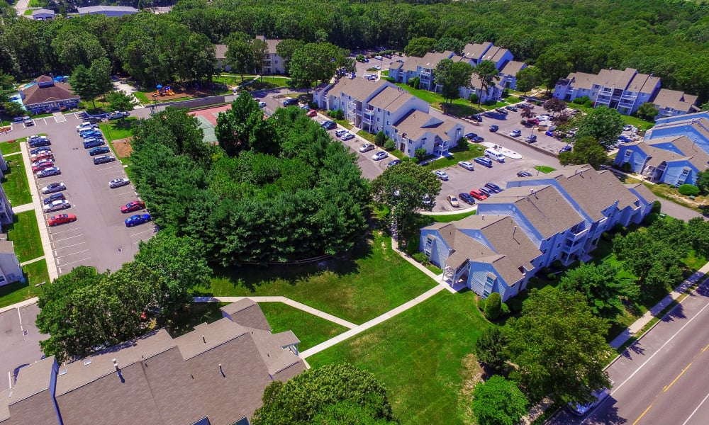 Neighborhood panoramic view at The Landings Apartment Homes in Absecon, New Jersey