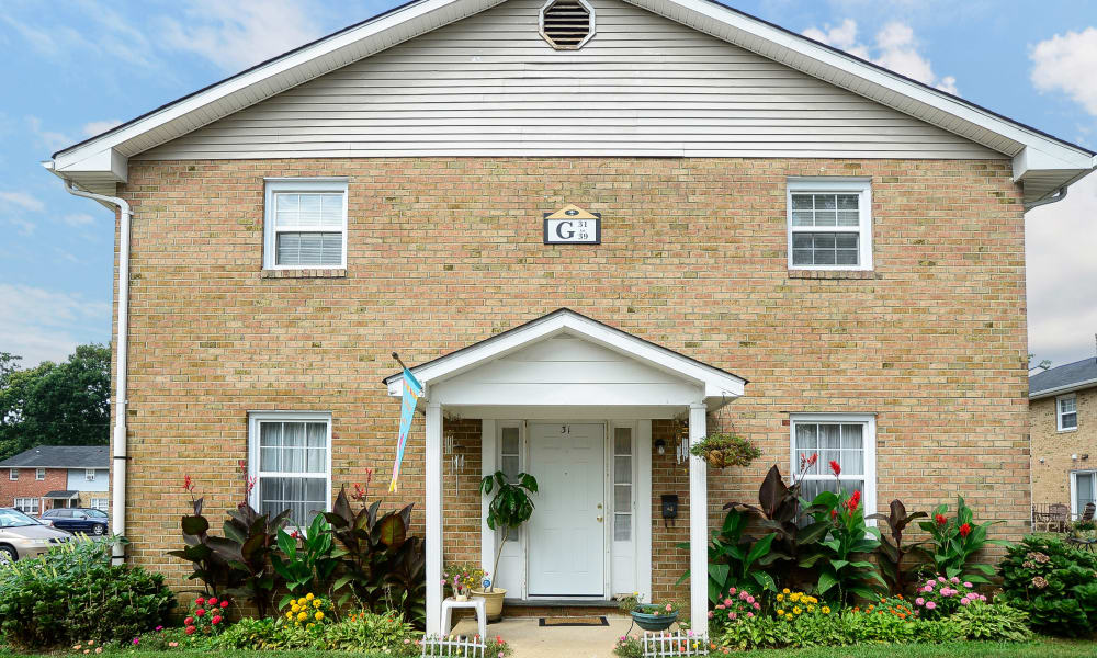 Front view at apartments in Vineland, New Jersey
