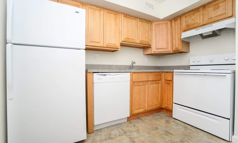 Vineland Village Apartment Homes offers a modern kitchen in Vineland, New Jersey