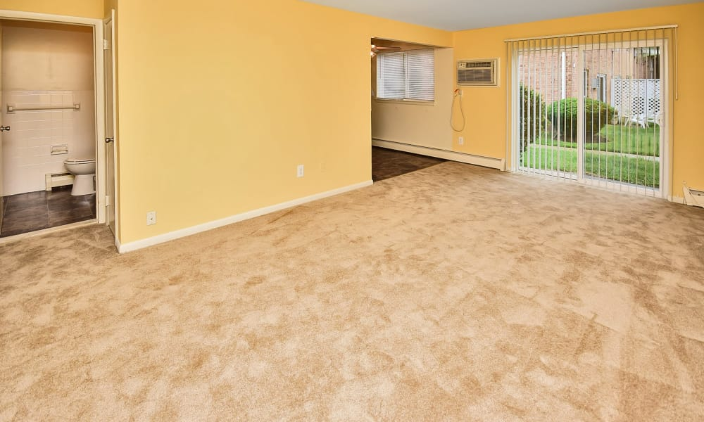 Living room at apartments in Somerdale, New Jersey