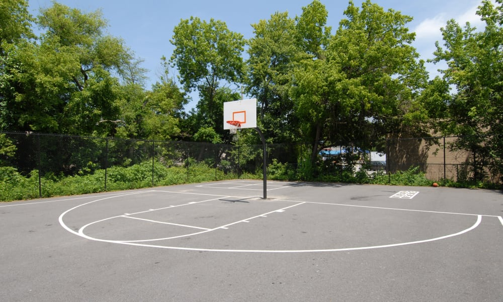Basketball court at apartments in Randallstown, Maryland