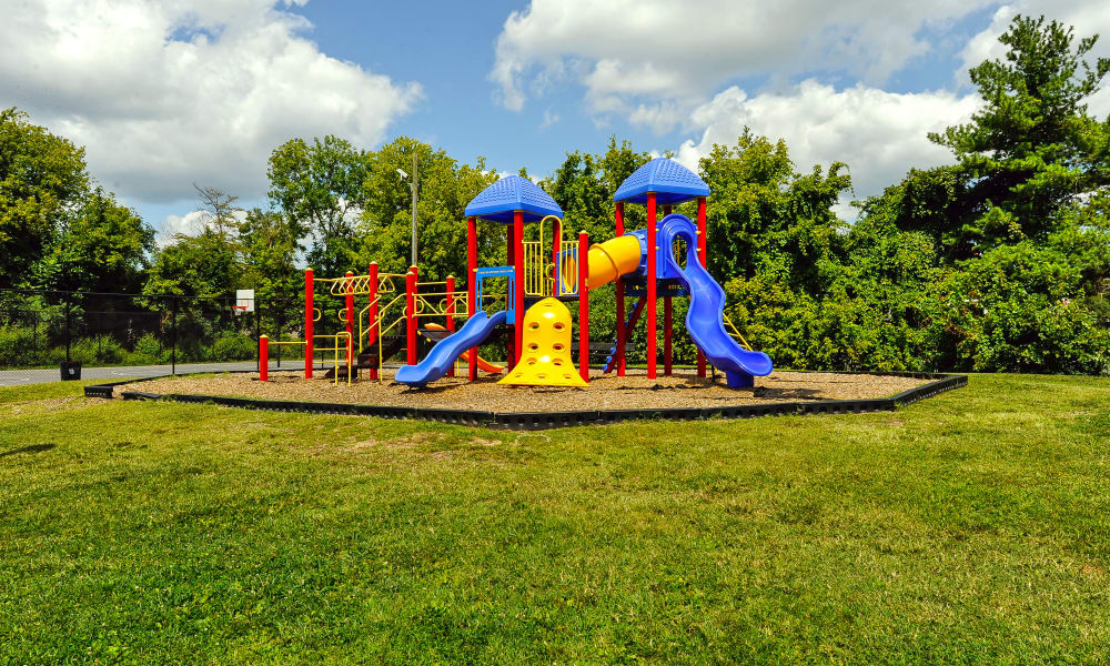 Enjoy apartments with a playground that is great for entertaining at Northwest Crossing Apartment Homes