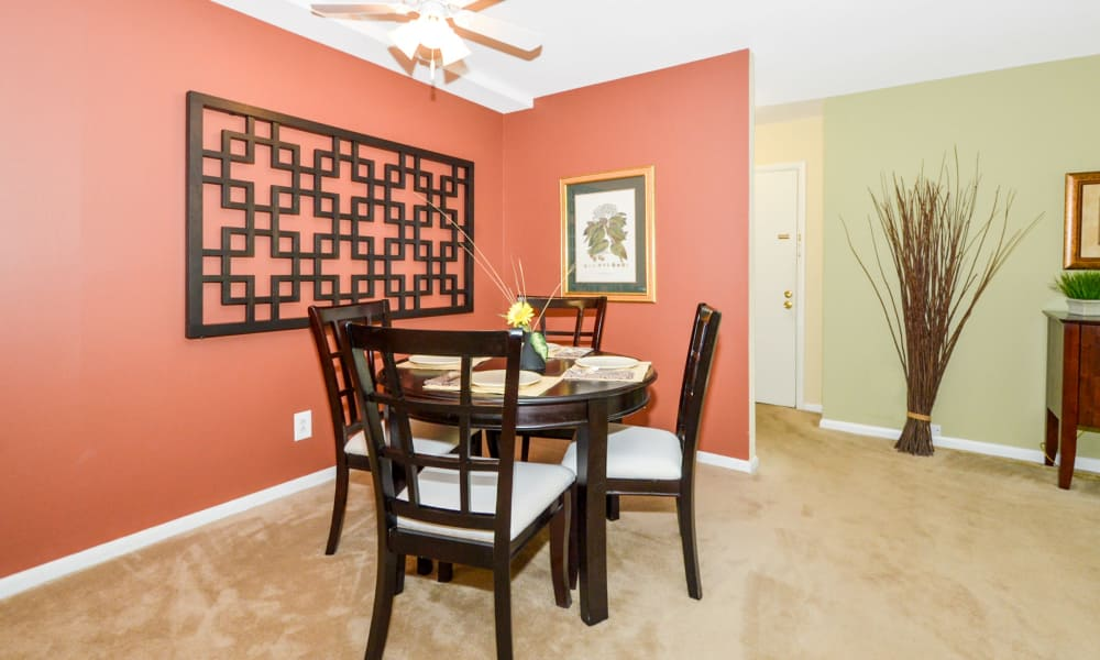 Dining room at Main Street Apartment Homes in Lansdale, PA