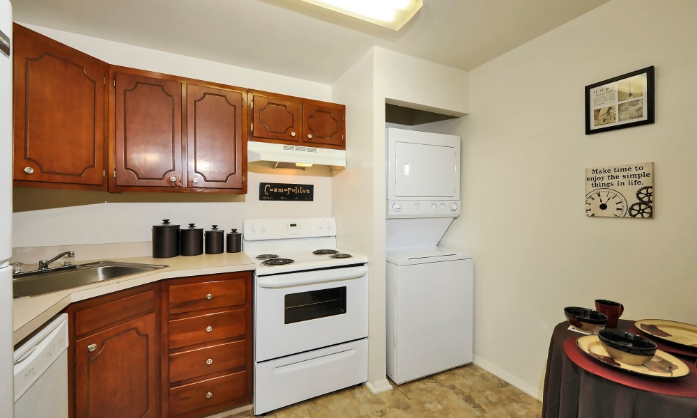 Spacious kitchen at Towson Crossing Apartment Homes in Baltimore, MD