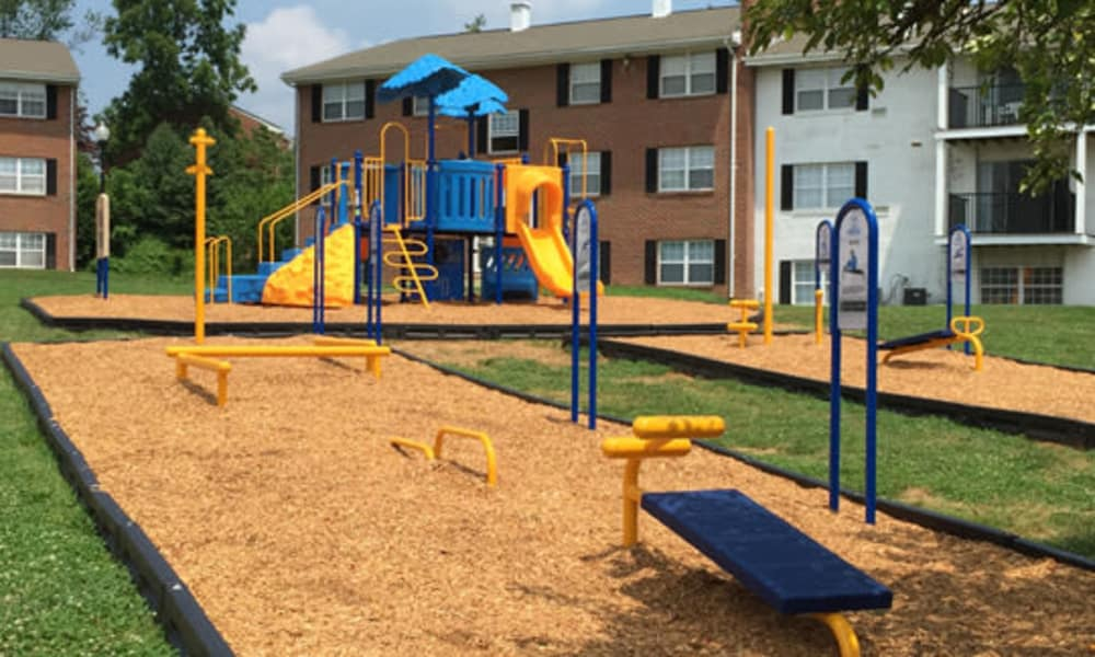 Play area at Towson Crossing Apartment Homes in Baltimore, MD