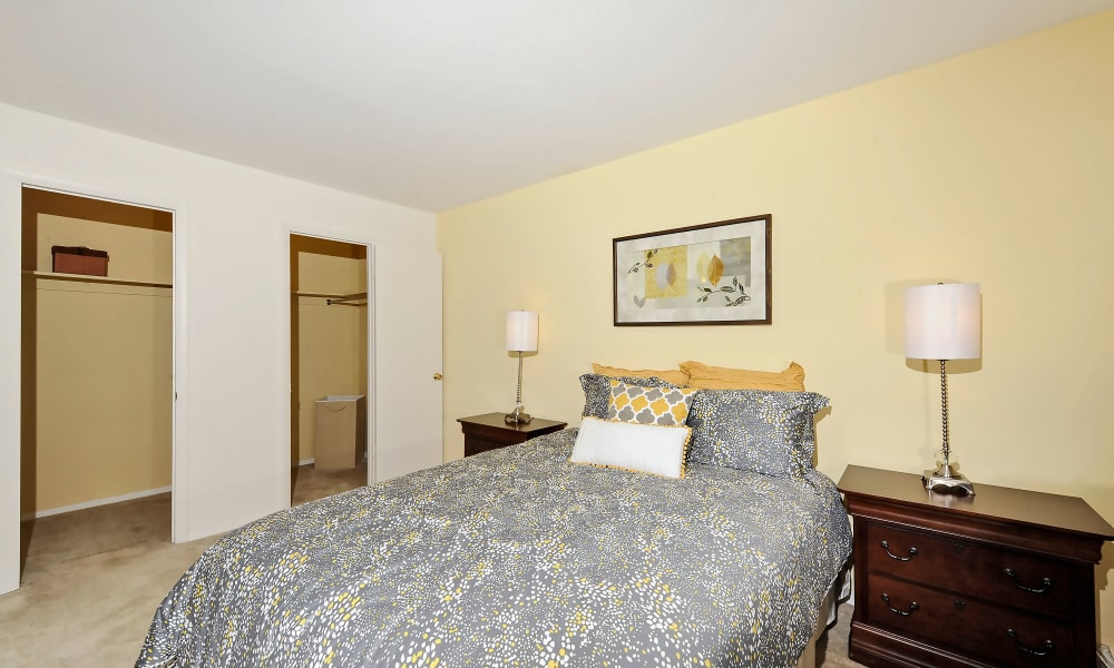Spacious bedroom at Towson Crossing Apartment Homes in Baltimore, MD