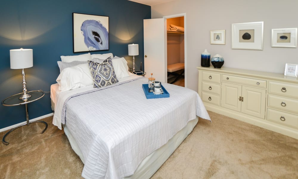 Enjoy apartments with a modern bedroom at Brookside Manor Apartments & Townhomes