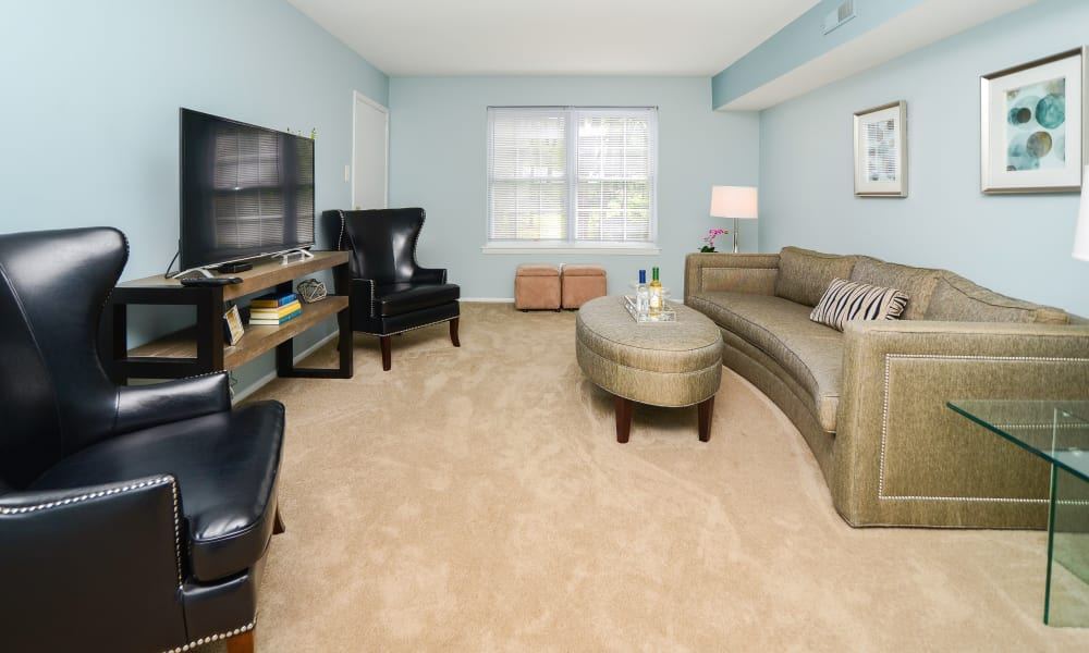 Our apartments in Lansdale, Pennsylvania showcase a luxury living room