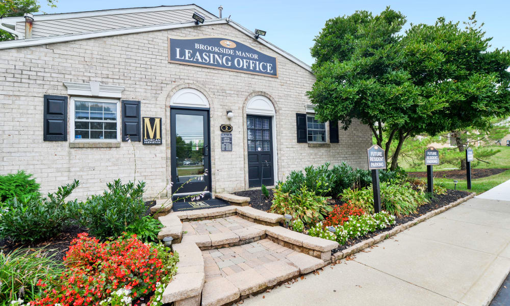 Leasing office at Brookside Manor Apartments & Townhomes in Lansdale, Pennsylvania