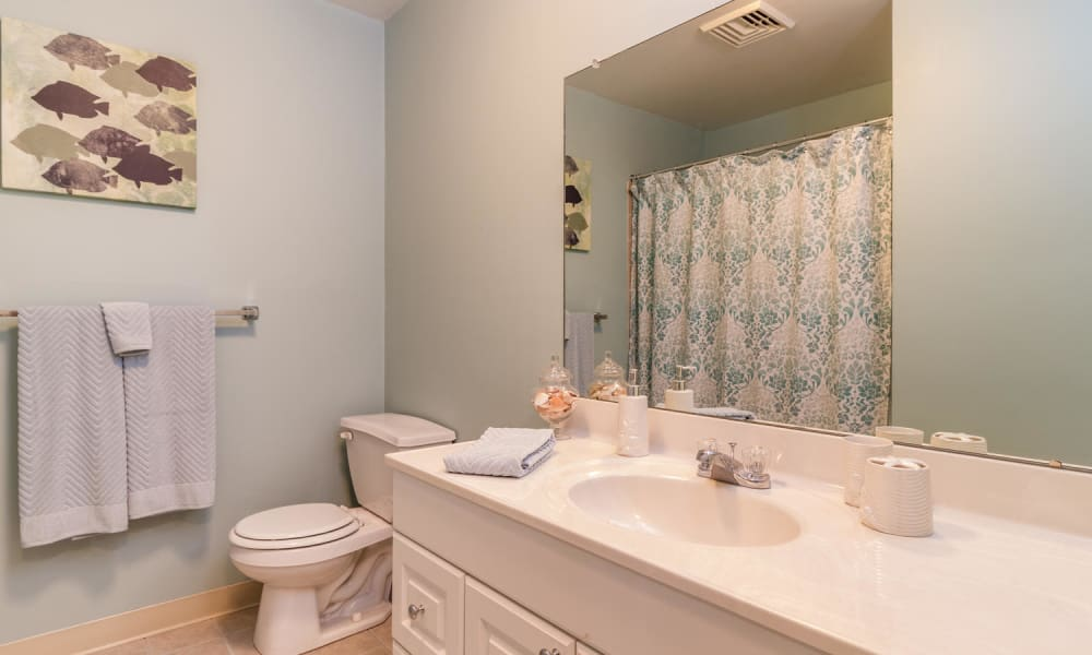 Clean bathroom at Imperial Gardens Apartment Homes in Middletown, NY