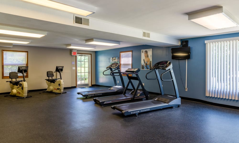 Spacious fitness center at Imperial Gardens Apartment Homes in Middletown, NY