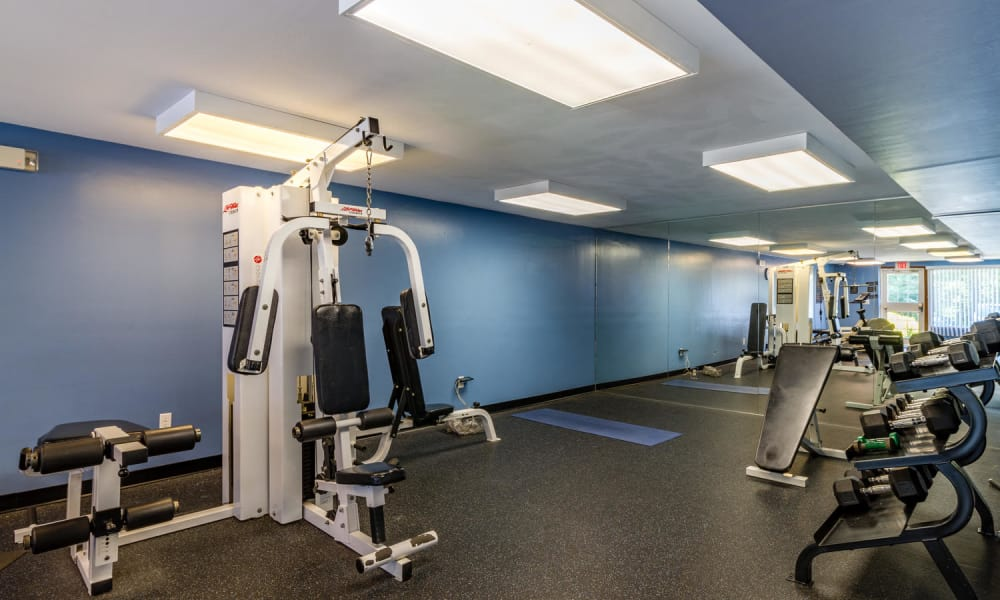 Imperial Gardens Apartment Homes offers a spacious fitness center in Middletown, NY
