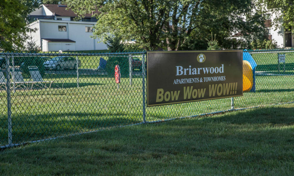 Briarwood Apartments & Townhomes offers a unique dog park in State College, Pennsylvania