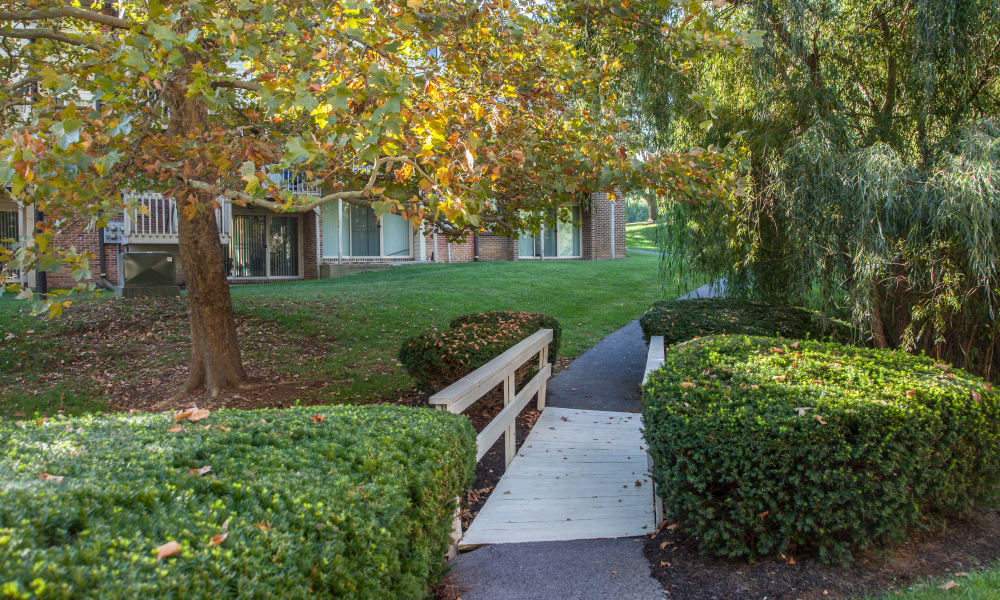 Beautiful walking paths at apartments in State College, Pennsylvania
