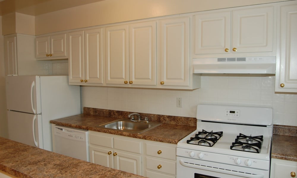 Kitchen at Village Green Apartment Homes