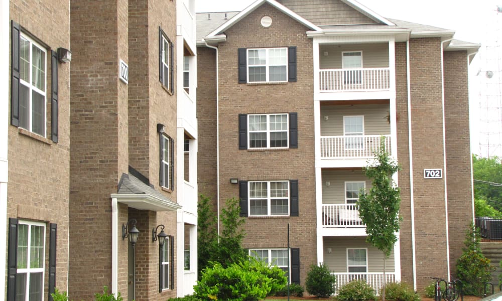 Apartment buildings at Spartan Crossing