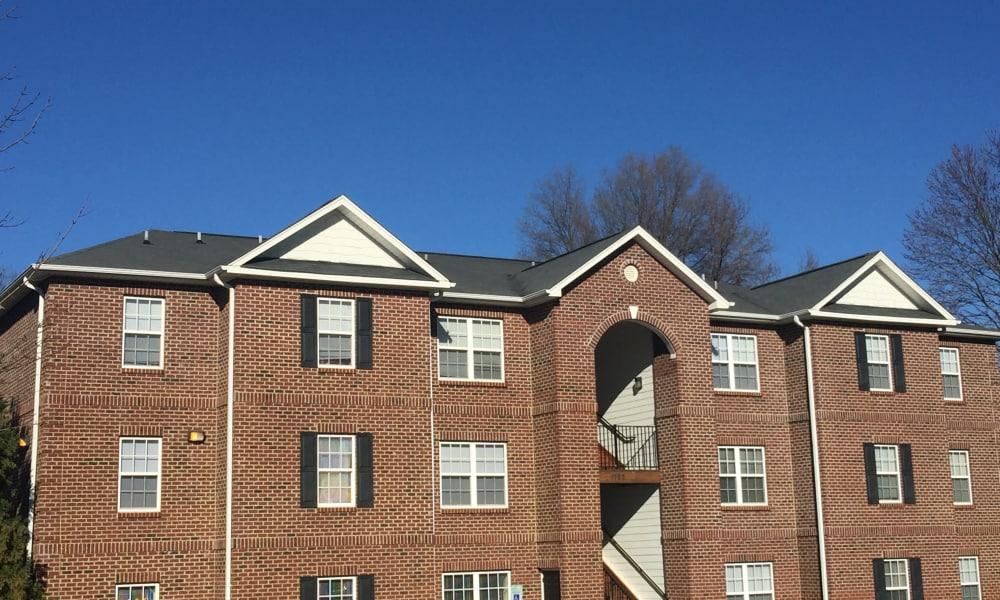 Brick apartment building in Greensboro, NC