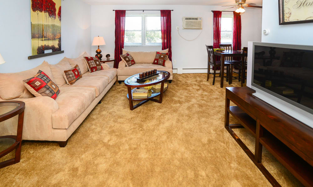 Our apartments in Bellmawr, New Jersey have a naturally well-lit living room