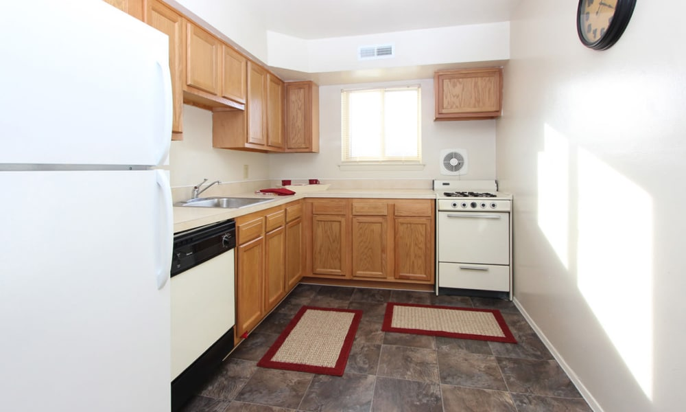 Spacious kitchen at apartments in Glen Burnie, Maryland