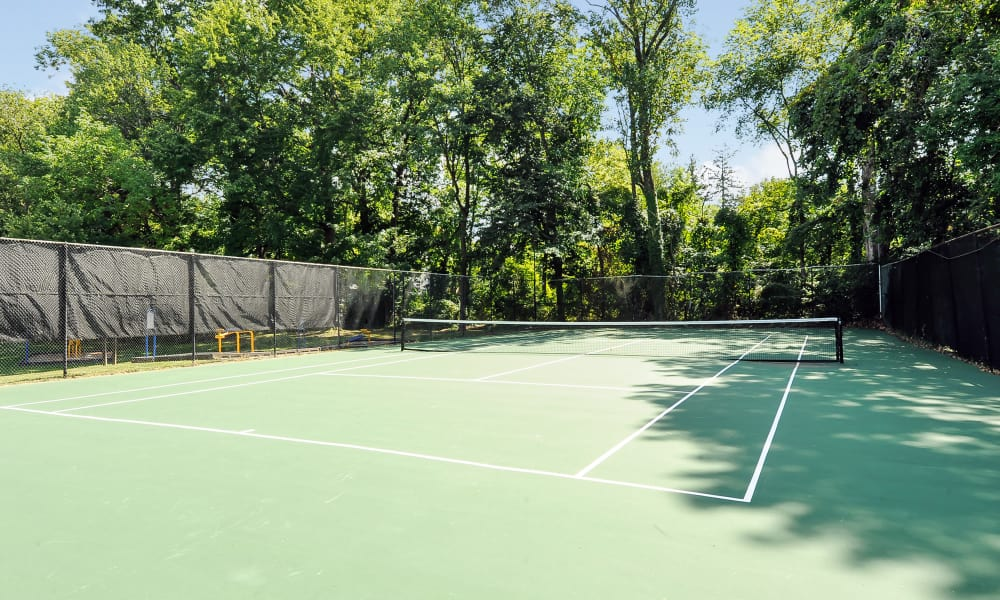 The Reserve at Greenspring offers a unique tennis court in Baltimore, Maryland