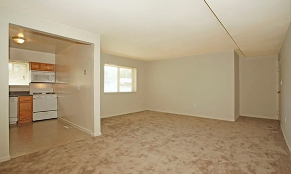 Enjoy apartments with a spacious living room at Glen Ridge Apartment Homes