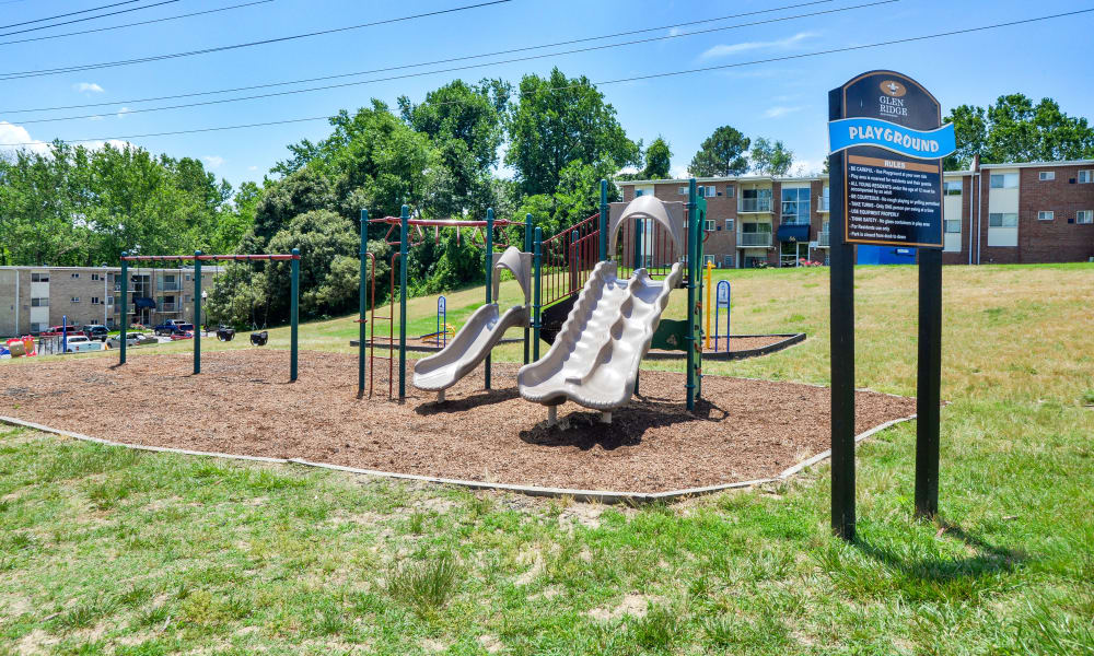 Glen Ridge Apartment Homes offers a playground in Glen Burnie, Maryland