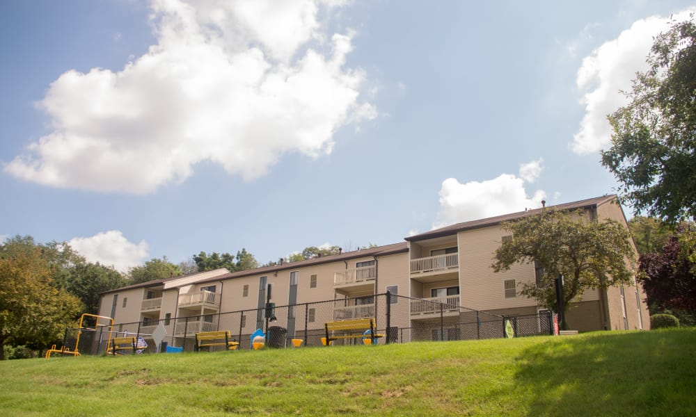 Squires Manor Apartment Homes offers a play area in South Park, PA