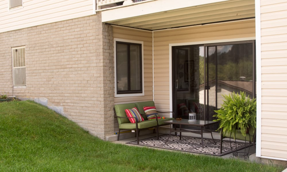 Porch at Squires Manor Apartment Homes in South Park, PA