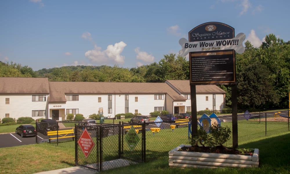 Our apartments in South Park, PA offer a dog park