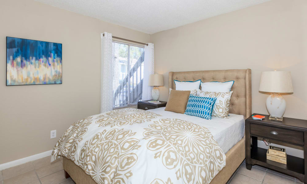 Cozy bedroom at Canopy Creek in Jacksonville, FL