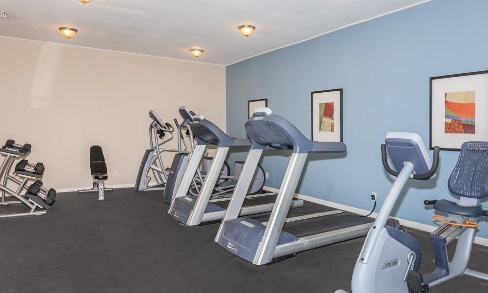 Stay healthy in our fitness center in Jacksonville