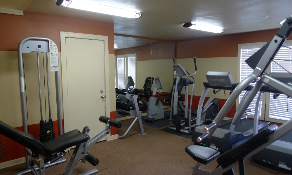 Fitness center at Canyons at 45 West in Amarillo, Texas