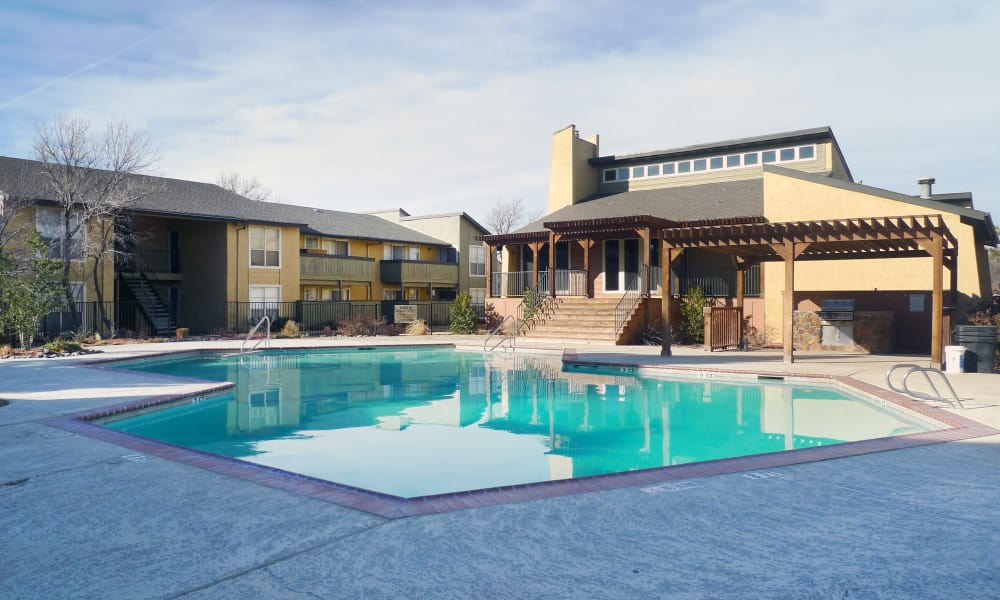 Refreshing pool at Canyons at 45 West in Amarillo, Texas
