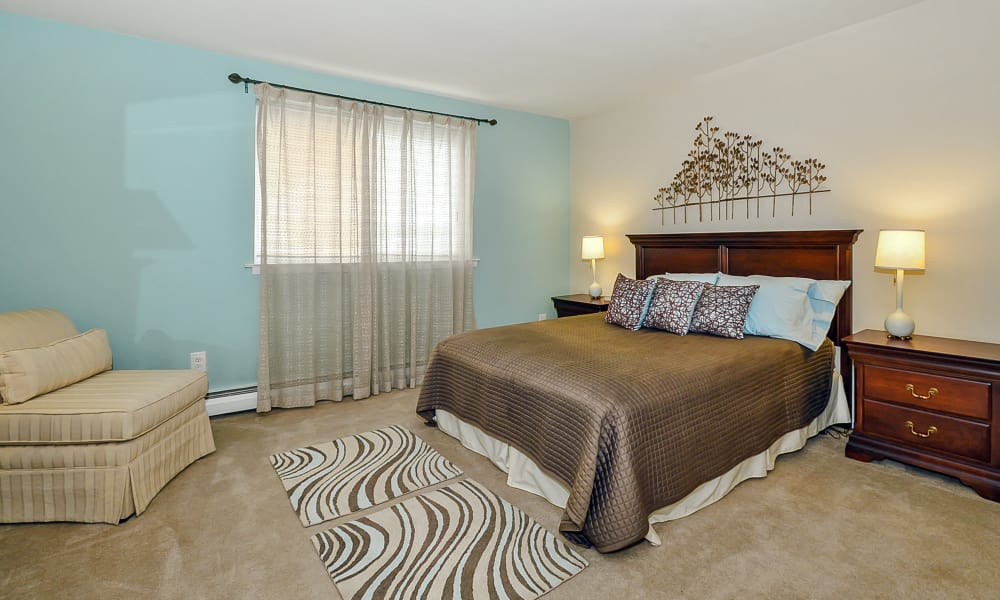 Beautiful bedroom at Sherwood Crossing Apartments & Townhomes in Philadelphia, Pennsylvania