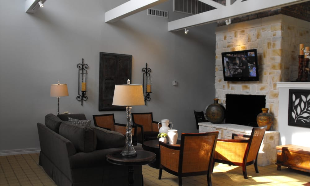 Clubhouse interior view at Avalon Villas in Irving
