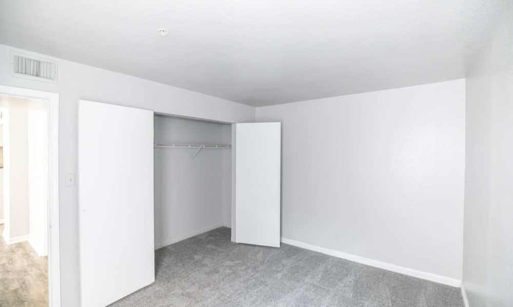 Spacious master bedroom at 89 East apartments