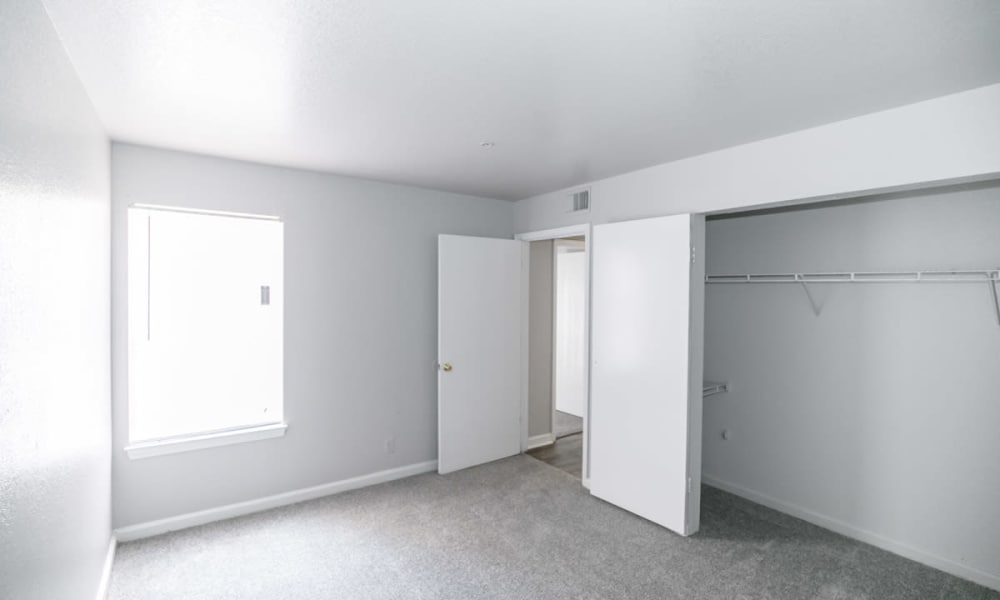 Ample bedroom at 89 East apartments in Tulsa