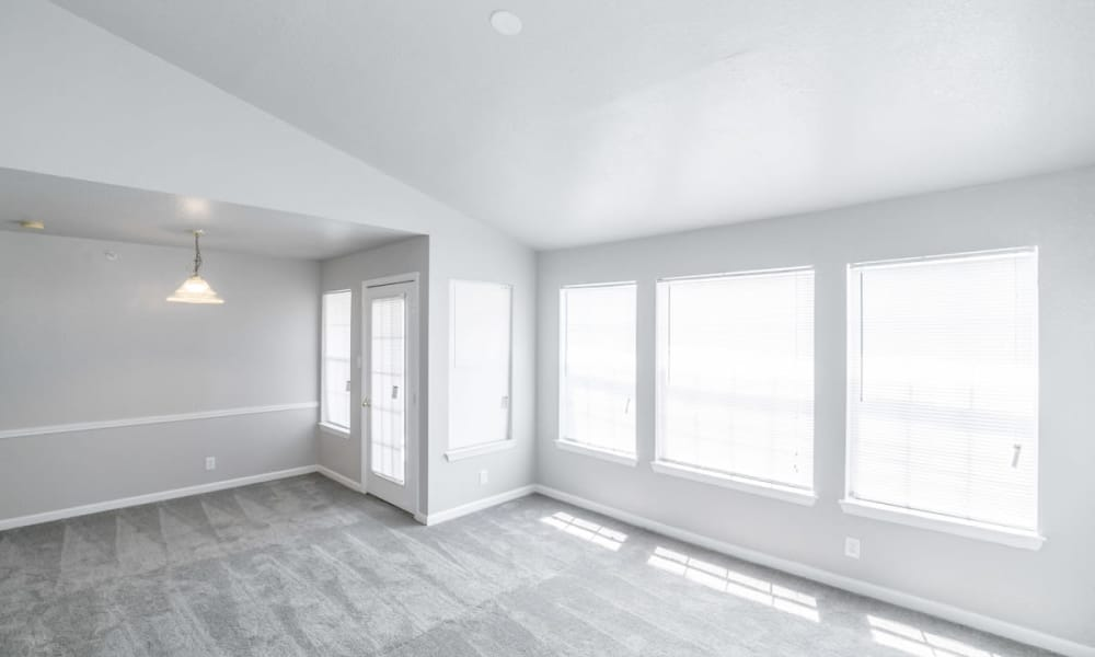 Enjoy a naturally well-lit living room at 89 East apartments