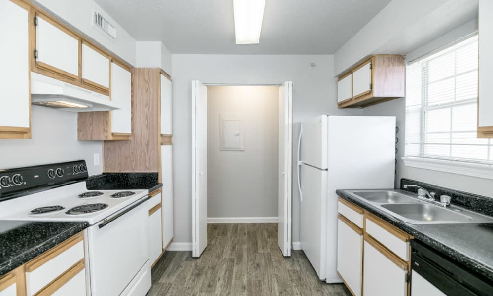 Modern kitchen at apartments in Tulsa, Oklahoma