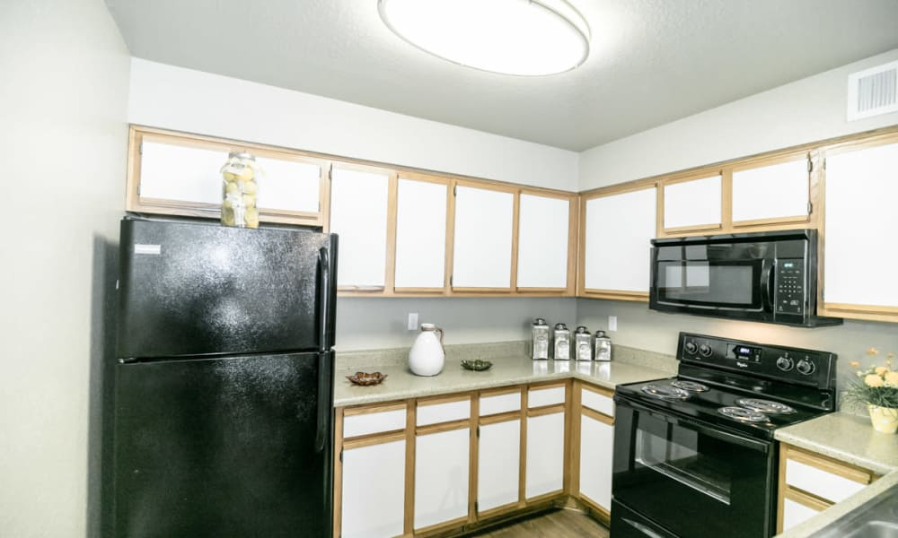 Fully equipped kitchen at 89 East apartments