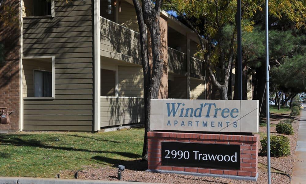 Entryway at Wind Tree in El Paso, Texas